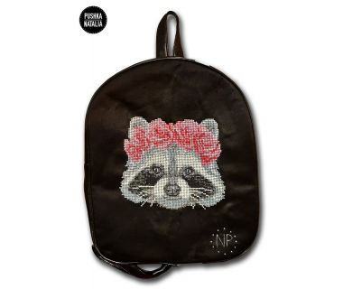 Рюкзак с авторской вышивкой Енот