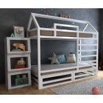 Детская двухъярусная кровать домик Джули