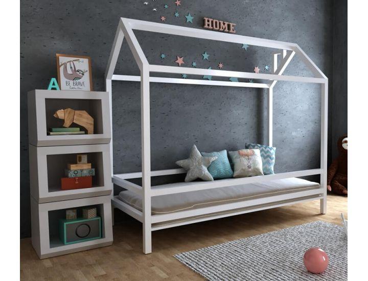Детская деревянная кровать домик Китти