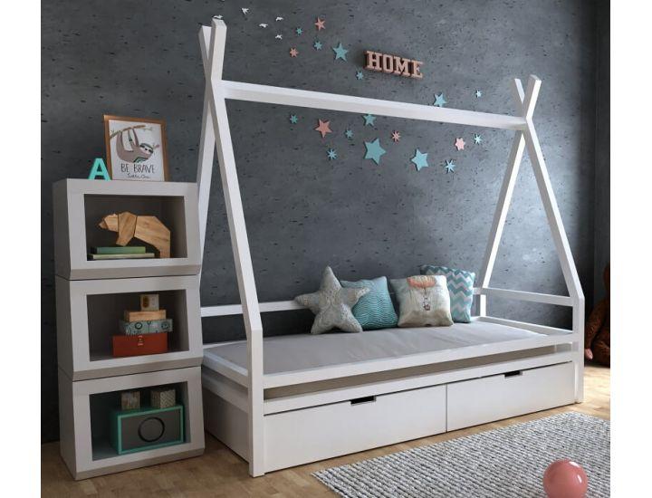 Детская деревянная кровать домик Моана плюс с ящиками
