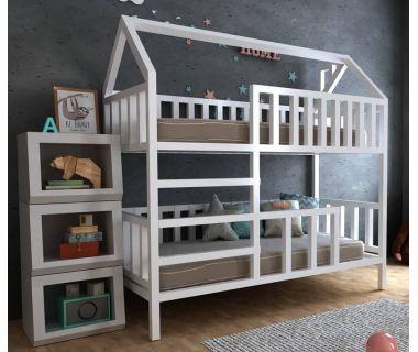 Детская двухъярусная кровать домик Молли