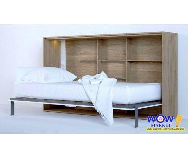 Шкаф кровать трансформер односпальная горизонтальная ШКГ-1