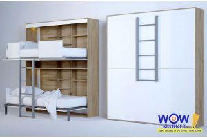 Видеообзор двухъярусной трансформер кровати-шкафа