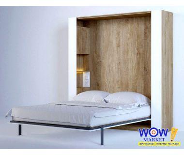 Шкаф кровать трансформер двуспальная с пеналами ШКВ-2п