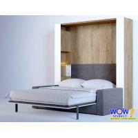 Шкаф кровать трансформер двуспальная с диваном ШКВ-2п