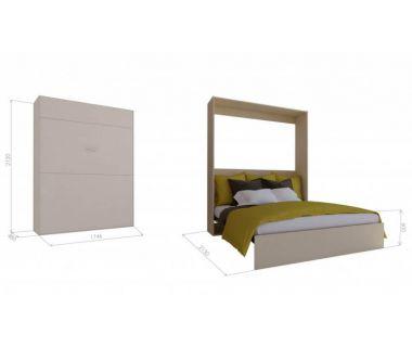 Шкаф кровать трансформер двуспальная Standart Optima