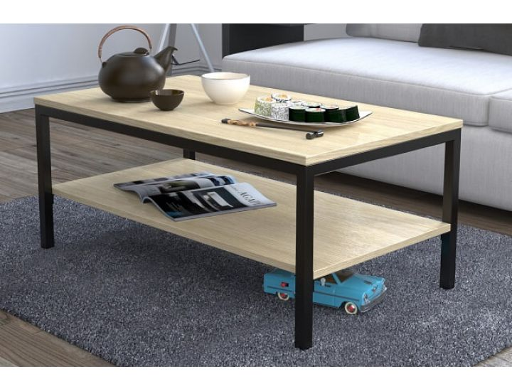 Журнальный стол Loft Design L-1, Дуб борас светлый