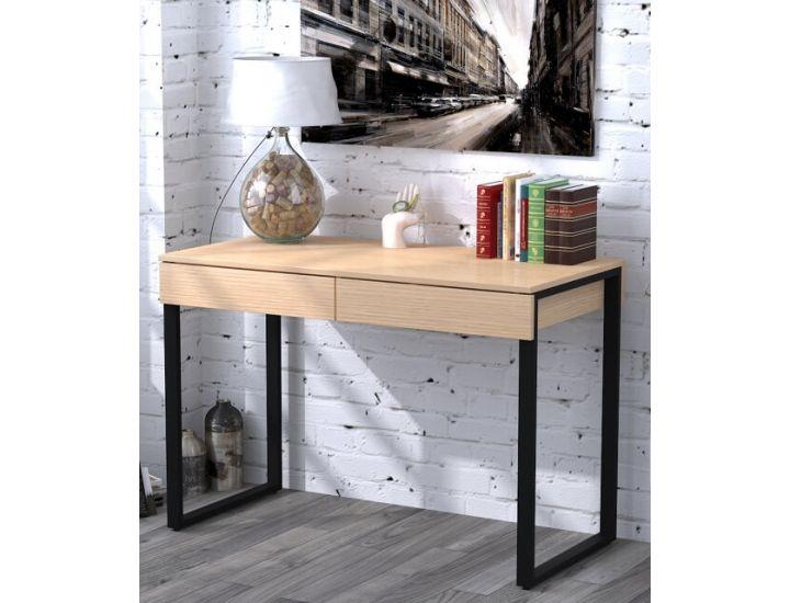 Письменный стол Loft Design L-11 дуб борас, ножки черные
