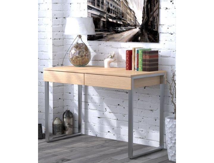 Письменный стол Loft Design L-11 дуб борас, ножки хром