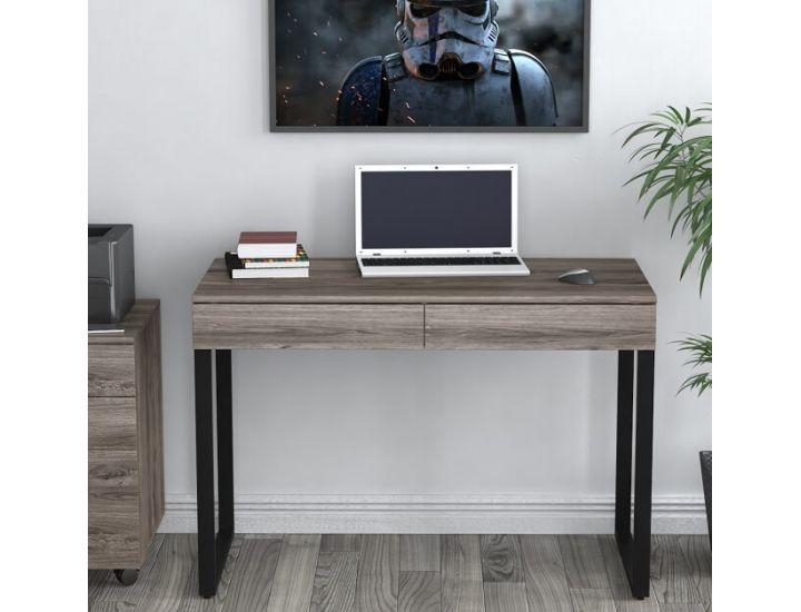 Письменный стол Loft Design L-11 дуб палена, ножки черные