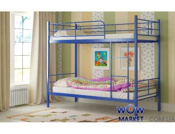 Кровать двухъярусная металлическая Емма 80х200см MADERA (Мадера)