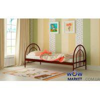 Кровать металлическая Алиса Люкс 80х200см MADERA (Мадера)