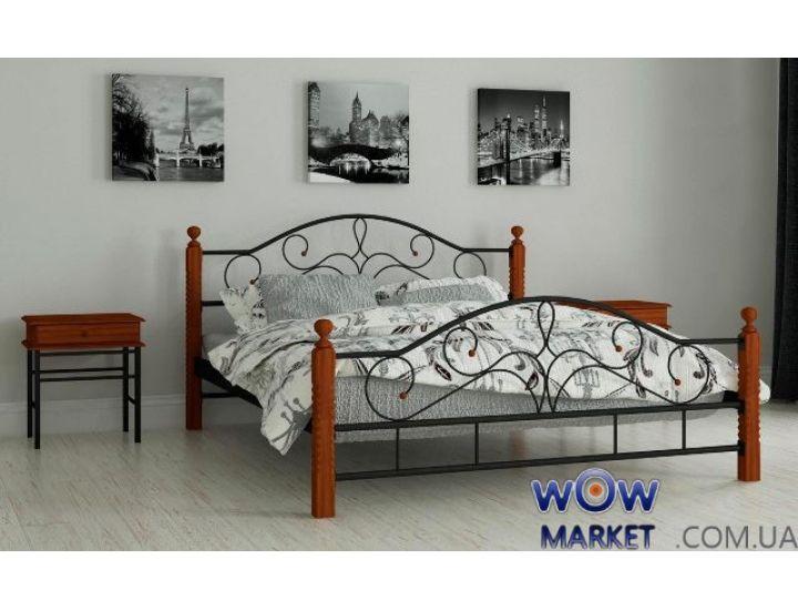 Кровать металлическая Гледис 120х200см MADERA (Мадера)