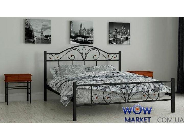 Кровать металлическая односпальная Элиз 90х200см MADERA (Мадера)