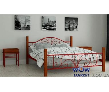 Кровать металлическая Изабела 140х200см MADERA (Мадера)