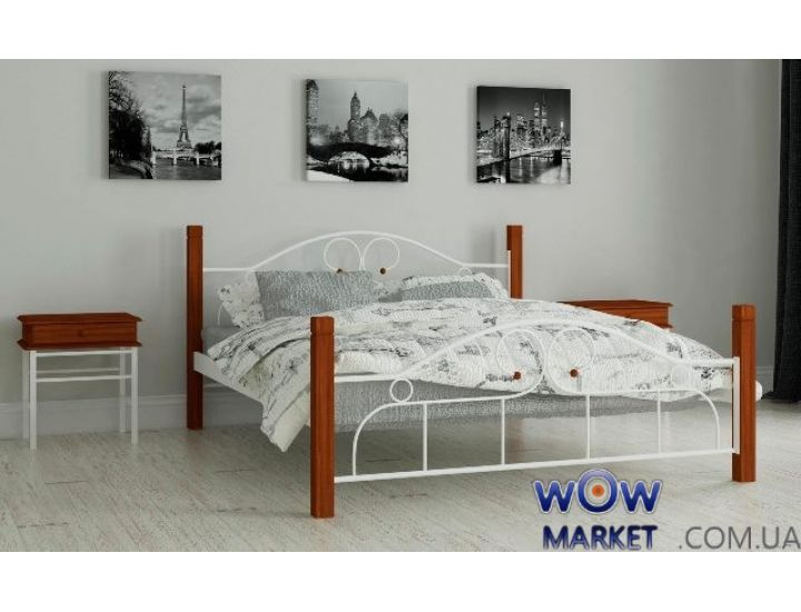 Кровать металлическая двуспальная Принцеса 160х200см MADERA (Мадера)