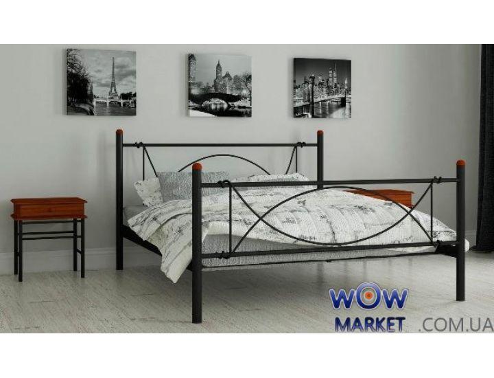 Кровать металлическая односпальная Роуз 80х200см MADERA (Мадера)