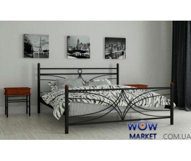 Кровать металлическая Тиффани 140х200см MADERA (Мадера)