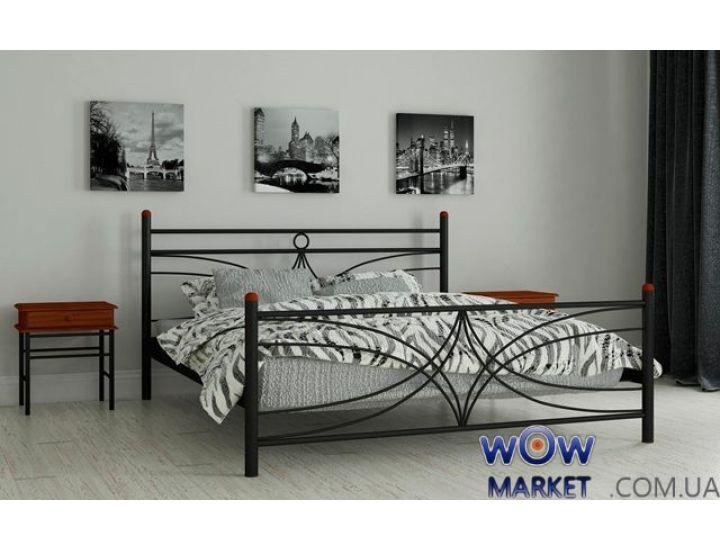 Кровать металлическая полуторная Тиффани 120х200см MADERA (Мадера)