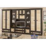 Гостиная Тристан витрина + 2 шкафа Мебель Сервис