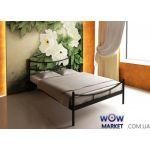 Кровать металлическая Сакура (Sakura) 200 (190)*120 (140) см с изножьем Метакам