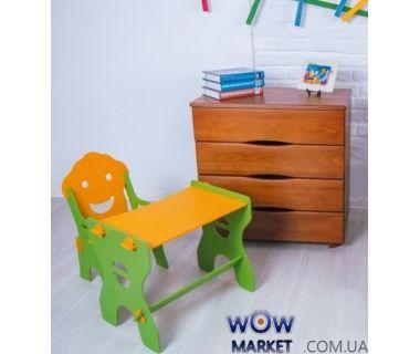 Детский набор Маус (стол и стул) желто-зеленый Микс Мебель Мария