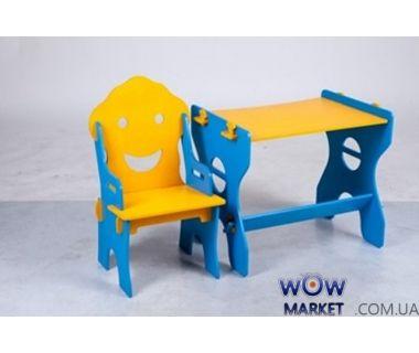 Детский набор Маус (стол и стул) желто-синий Микс Мебель Мария