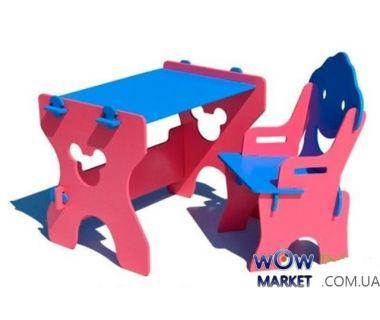 Детский набор Маус (стол и стул) сине-красный Микс Мебель Мария