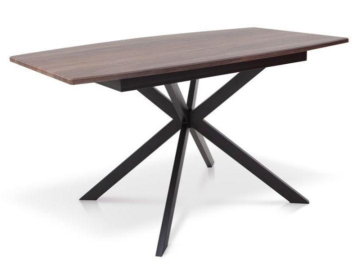 Раскладной стол Ричард ножки черные, столешница орех Микс Мебель