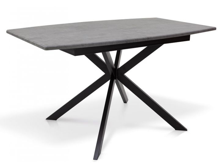 Раскладной стол Ричард ножки черные, столешница темно-серая Микс Мебель