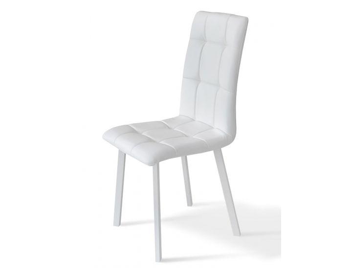 Стул Тринити ножки белые, кожзам белый EximTextil Fly2300 Микс Мебель