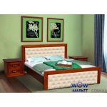 Кровать двуспальная Фридом 160(180)х200см орех с патиной Микс Мебель