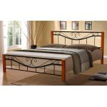 Кровать Милениум Вуд 160*200 см, черный Микс Мебель Iron Line
