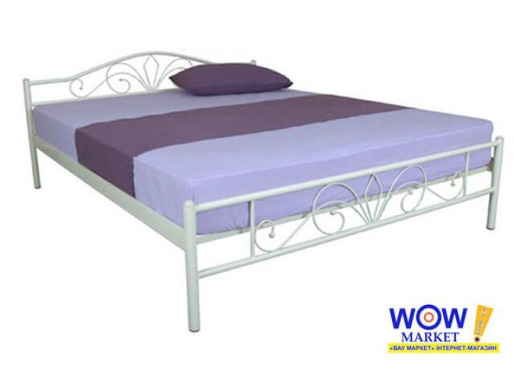 Кровать металлическая Релакс 160*200 см, бежевый Микс Мебель Iron Line