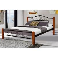 Кровать Релакс Вуд 160*200 см, черный Микс Мебель Iron Line
