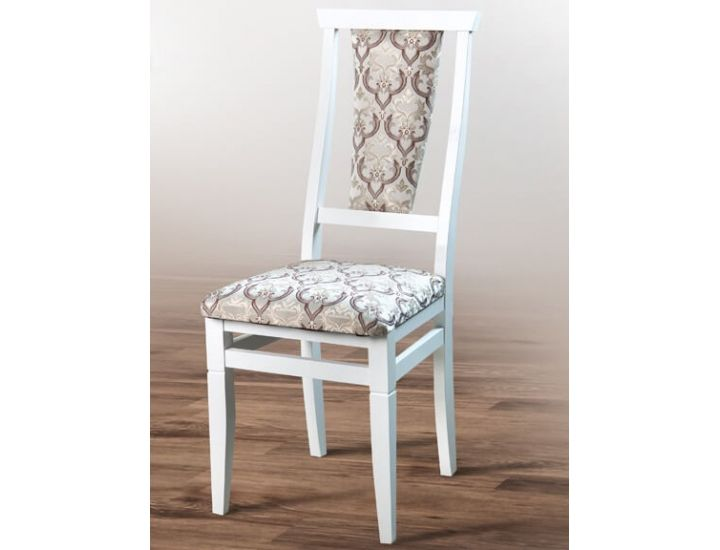 Стул деревянный Чумак (белый, ткань Кападокия 2605) Микс-Мебель Карпаты