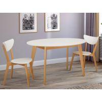 Стол обеденный Космо (белый, ножки бук) Микс Мебель Колибри