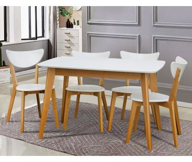 Стол раскладной Модерн белый, бук 120 (+40) * 75 см Микс-Мебель Колибри