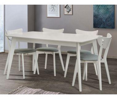 Стол раскладной Модерн белый 120 (+40) * 75 см Микс-Мебель Колибри