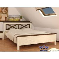 Кровать двуспальная Нормандия (Сосна) 160х200см Микс Мебель Уют