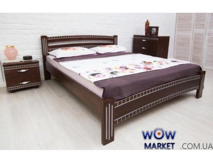 Кровать Пальмира 160х200см патина серебро, орех Микс Мебель Мария