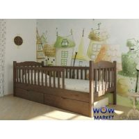 Кровать Юниор с двумя заборами 90х200см Микс-Мебель Уют