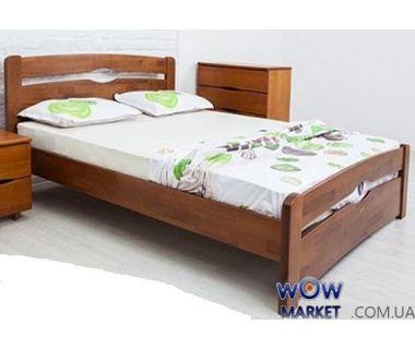 Кровать полуторная Каролина 120 (140) х200 см с изножьем Микс-Мебель Мария