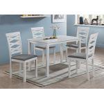 Кухонный комплект Бруклин, стол и 4 стула, белый