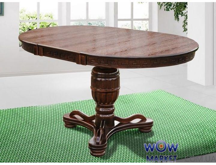 Стол круглый раскладной Версаль 1000(+400)*1000мм, орех Микс Мебель Барон