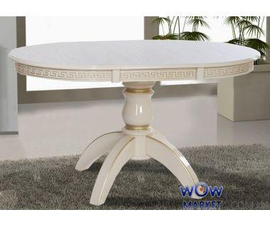 Стол раскладной Престиж 1000(+400)*1000мм (слоновая кость+патина) Микс-Мебель Престиж