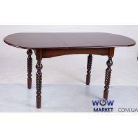 Стол раскладной Бруно 1290(+340)*740мм орех темный Микс-Мебель Ультра