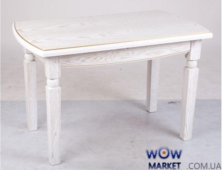 Стол раскладной Кайман 1200 (+400)*700 мм белый+патина Микс-Мебель Гаити