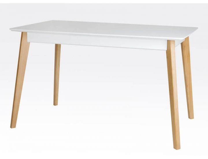 Стол обеденный раскладной Сингл белый, ножки дуб Микс-Мебель Лофт
