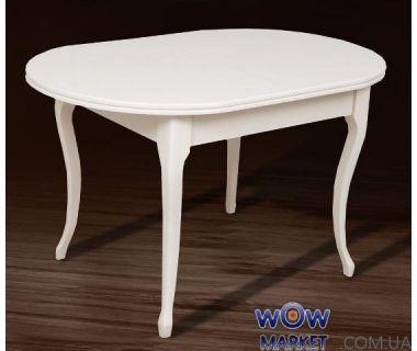 Стол раскладной Твист 1260(+340)*810мм, бежевый, белый Микс Мебель Ультра